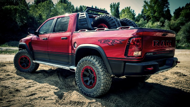 spied 2021 ram rebel trx powered by hellcat engine