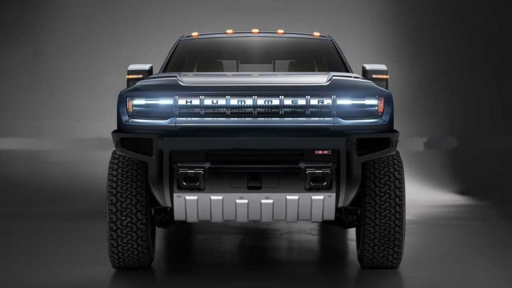 Hummer Electric Pickup Truck front look