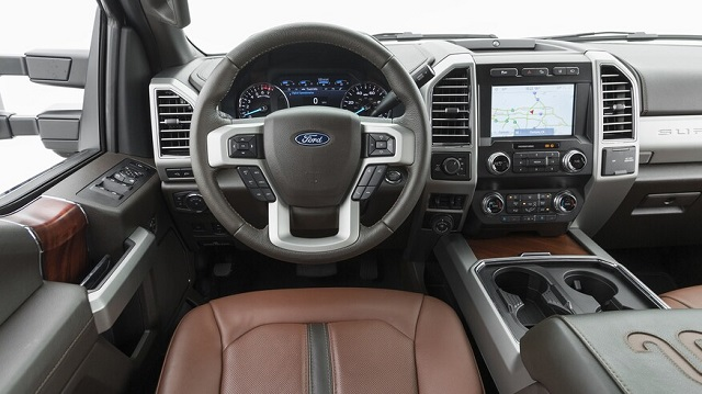 2022 Ford F-350 cabin
